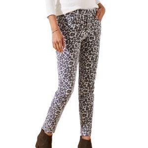 LOFT Size 4 Skinny Leopard Print Stretch Jeans